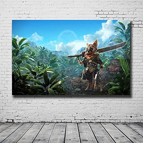 LGYJAL Gioco Online Popolare Biomutante Poster Tela Pittura Stampa HD Amanti del Gioco Decorazione Sala Studio Decor 50x70 cm (19,68x27,55 in) U-600
