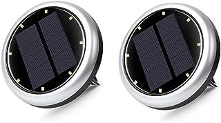 Innoo Tech Solar Lights, 2PCS Solar Floor Lights Outdoor Solar Ground Lights IP65 Waterproof Outdoor LED Solar Path Lights...