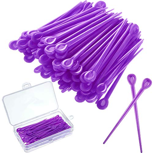 WILLBOND 180 Stück Pinsel Rolle Pick Kunststoff Roller Pick Lockenwickler Rollen Pin Für Haar Curling Styling Zubehör lila