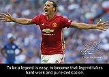 Motivierendes Poster mit Autogramm von Zlatan Ibrahimovic #