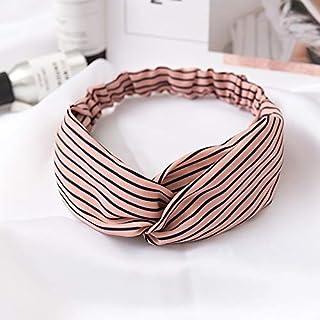 Hair band Fashion Smooth Fabric Striped Twist Hair Scrunchie Head Wrap Stretch Stripes Headwear Women Hair Accessorie MJZC...