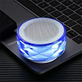 Hancoc Azul HiFi portátil 288 Luces LED de Sonido del Altavoz de subgraves columnas de Altavoces estéreo inalámbricos Bluetooth