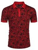 COOFANDY Mens Fashion Polo Shirts Cotton Golf Tee Classic Fit Golf Shirts
