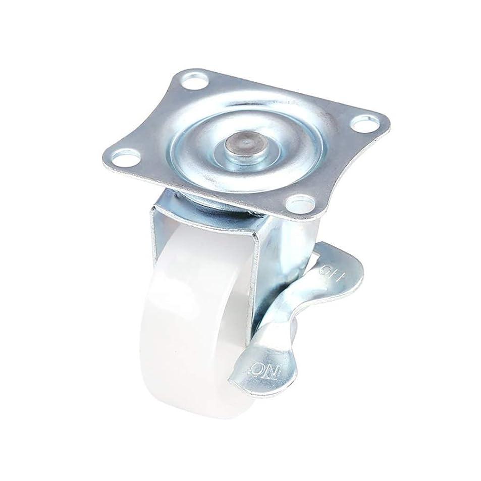 作りチャールズキージング彼自身安定したユニバーサルホイール 家具表キャスターヘビー65ミリメートルPP旋回キャスター付きブレーキトロリーの4パック インストールが簡単 (色 : Silver, Size : 2.5in)