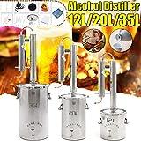 Xin Hai Yuan 20/12/35 / 60L Destilador del Alcohol Ilegal de Alcohol Inoxidable Cobre DIY Agua Vino Aceite Esencial Brewing Kit comprende Brewing Accessori,20L