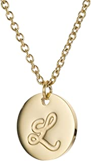 Initial Necklace Best Friend Necklaces for Girls Stainless Steel, 18