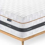 Coolvie Queen Mattress, 10 Inch Hybrid Innerspring Mattress in a Box, Gel Memory Foam & Open-Cell Design, Great Support & Pressure Relief, Medium Firm Bed Mattresses, Queen Size