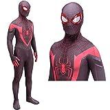 Disfraz de Spiderman Disfraz y Cosplay - Disfraz de Spiderman para niños/Adultos Traje de Fiesta de Miles Morales con Estampado 3D-Adult L