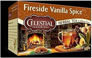 Celestial Seasonings Fireside Vanilla Spice Single Box of 20 (Pack of 3)