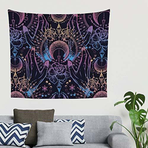 O2ECH-8 Lotus Mondster patroonprint Hippie exclusieve woondecoratie - hand