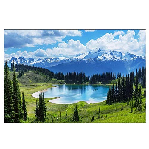 Blauer himmel weiße wolken schnee berg see wiese wandbild-Benutzerdefinierte 3d fototapete dekor wohnzimmer tapete für wand 3 d 280 cm B x 230 cm H