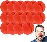 TK Gruppe Timo Klingler 25x Clownnase - rot & fluffig Schaumstoff Nase - für Erwachsene & Kinder zum Aufstecken, Fasching & Karneval