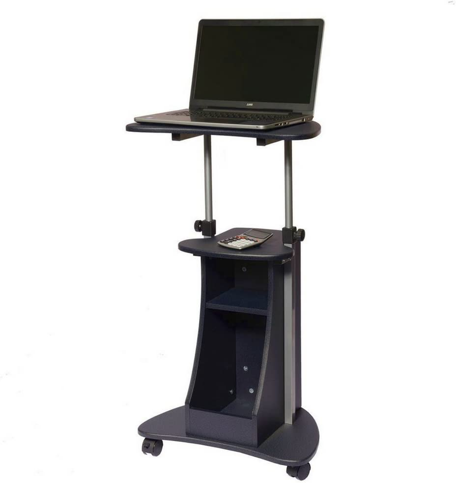 OFFer Mobile Workstation Cart Laptop Notebook Max 63% OFF Storage Tall Shelv Stand