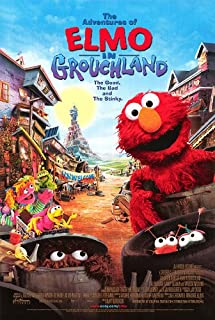 POSTER-THE ADVENTURES OF ELMO IN GROUCHLAND ORIGINAL ROLLED DOUBLE SIDED MOVIE POSTER