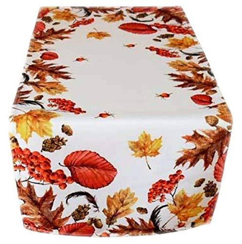 Raebel Tischdecke Herbst Pflegeleicht Decke Herbstdecke Tischläufer Läufer (40 x 90 cm)