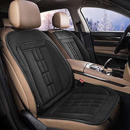 Heizkissen Autositz, 12V Autositzheizung Mit 3 Stufen-Schalter Von Heizkissen Für Full Back Und Sitz, Instant-Heizung-Up-Sitzabdeckung Wärmer Für Auto,Blackdouble
