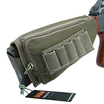 EXCELLENT ELITE SPANKER Tactical Buttstock Shotgun Rifle Shell Holder for Cheek Rest Ammo Holder Pouch Ranger Green