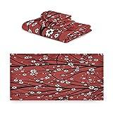 TropicalLife iRoad - Juego de toallas de algodón (3 piezas, cerezo en flor, muy absorbentes, toallas de mano, juego de toallas de baño, cocina