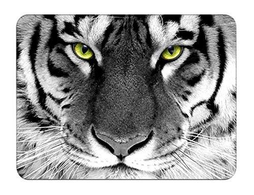 Silent Monsters Mauspad Größe S (240 x 200 mm) Stoff Mousepad Design: Tiger - geeignet für Office und Gaming Maus
