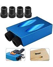 AFASOES Pocket Gat Schroef Jig Dowel Boor Joinery Kit 15 Graden Houtbewerking Hoek Boren Gids Hoek Tool DIY timmerwerk Locator Drive Adapter met 6/8/10mm Gat