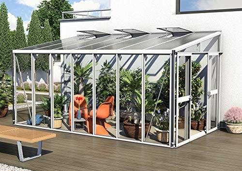 Preisvergleich Produktbild Vitavia Athena 11900 ESG / HKP,  Weiss Anlehngewächshaus 3 Dachfenster Gewächshaus Pflanzen