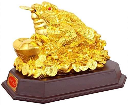 LULUDP-Decoración Escultura de Moneda de la Suerte del Dinero del Sapo/Rana/Chen CHU-Chinese Ornaments Rica decoración Estatua decoración de la Tabla Regalo de la decoración de la Buena Suerte Man