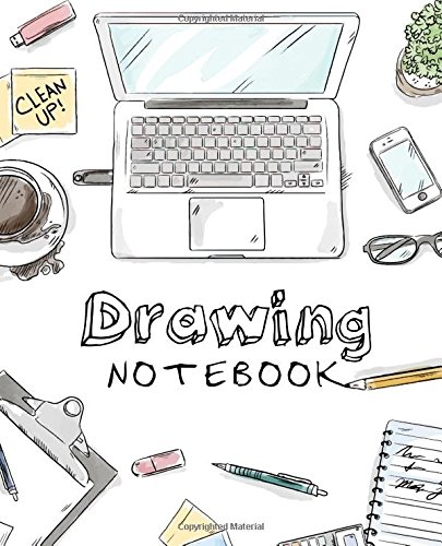 Drawing Notebook: Hand-drawn style | Sketching | Drawing and Creative Doodling | Notebook and Sketchbook to Draw and Journal | 150 Blank Pages