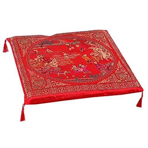 Phoenix Wonder Durable Squared Seat Breathable Chair Cushion Chinese Wedding Cushion Kneel Pad, One Hundred