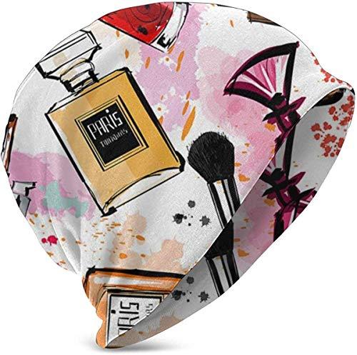 hdyefe Unisex Kids Beanie Caps Cosmetic Makeup Pattern Perfume Lipstick Modern Knit Hat Skull Cap Winter Summer Warm Girls
