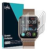 lϟk 6 pezzi tpu pellicola protettiva per apple watch series 6/5/4/se 44mm / series 7(45mm) - senza bolle trasparente hd schermo protettivo facile con kit d'installazione