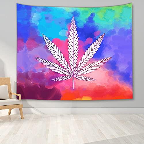 PPOU Tapiz Hippie Tapiz de Paz y Amor Tapiz de Hojas Coloridas Tapiz psicodélico Tapiz Art Deco Decoración de Pared A5 100x150cm