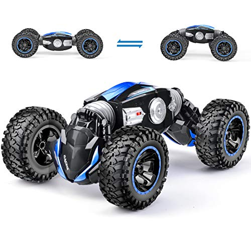 NQD RC Car Off-Road Vehicles Rock Crawler 2.4Ghz Remote Control Car Monster Truck 4WD Dual Motors Electric Racing Car, Toys RTR Rechargeable Buggy Hobby Car (Blue)