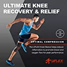 UFlex Athletics Knee Compression Sleeve Support for Women and Men - Knee Brace for Pain Relief, Fitness, Weightlifting, Hiking, Sports - Red, Medium #1