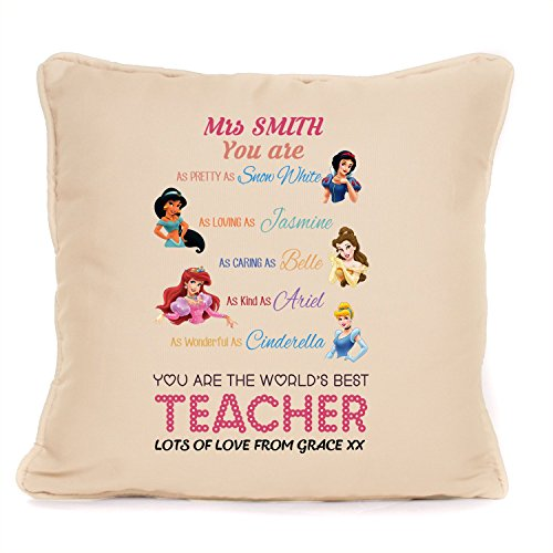 Personalized Disney Princess Pillow for Teachers