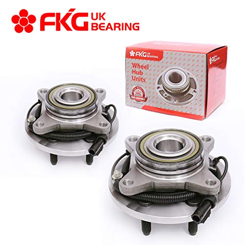 FKG 515117 Front Wheel Bearing and Hub Assembly fit for 2009 2010 F-150, 2010 Expedition, 2010 Lincoln Navigator, 6 Lugs W/ABS 2WD Only set of 2