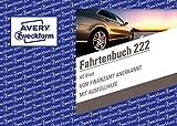 AVERY Zweckform 222 Fahrtenbuch für PKW (vom Finanzamt anerkannt, A6 quer, auf 80 Seiten für insgesamt 390 Fahrten, für Deutschland und Österreich zur Abgrenzung privater und geschäftlicher Fahrten)