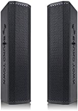 """Sound Town Pair of Passive Wall-Mount Column Mini Line Array Speakers with 4 x 5"""" Woofers, Black for Live Event, Church, Conference, Lounge, CARPO-V5B"""