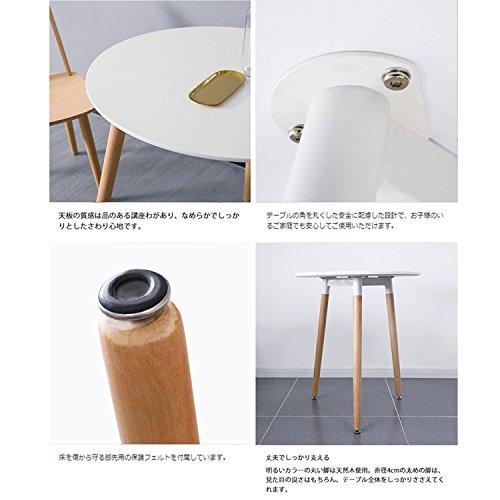 イームズテーブルダイニングテーブル丸テーブル白カフェテーブル幅60cmお手入れ簡単(ホワイト,幅60cm)