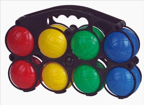 Juego de 8 bolas de petanca, 4 colores, estuche de transporte