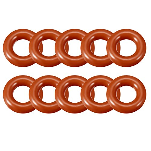 Sourcingmap Silikon O-Ring, 10 mm-28 mm Außen Durchmesser, Seal Ring Dichtung rot, a18032800ux0100