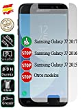 Movilrey Protector para Samsung Galaxy J7 2017 J730 Cristal Templado de Pantalla Vidrio 9H para movil