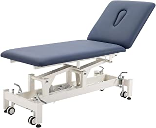 Physical Therapy Table,HomelyD Hi-Lo adjustable 2 section PT Treatment table,ultra comfortable foot control Facial Salon SPA Bed for Clinic,Massage and Acupuncture (Blue)