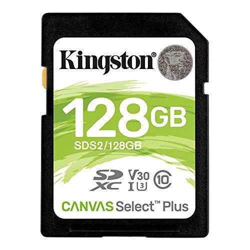 キングストン SDXCカード128GB Class10 UHS-I U3 V30 Canvas Select Plus SDS2/128GB 永久保証