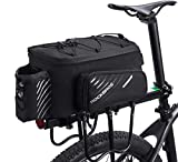 ROCKBROS Bike Trunk Bag Bicycle Rack Rear Carrier Bag Commuter Bike Luggage Bag Pannier with Rain Cover