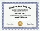 Shoemaker Shoemaking Shoe Maker Degree: Custom Gag Diploma Doctorate Certificate (Funny Customized Joke Gift - Novelty Item)