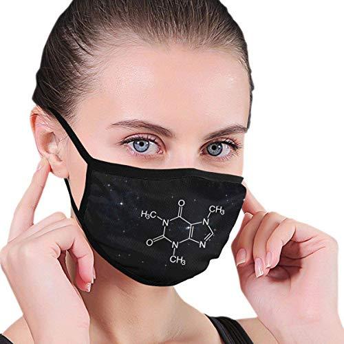 Koffeinmolekül, Chemie-Außenmaske, schützende 5-Lagen-Aktivkohlefilter Erwachsene Männer Frauen Bandana