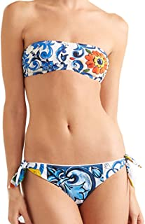 Dream_mimi Women Flower Print Bikinis Set Beachwear Set Push Up Bandage Swimsuit Swimmer Bathing Suits