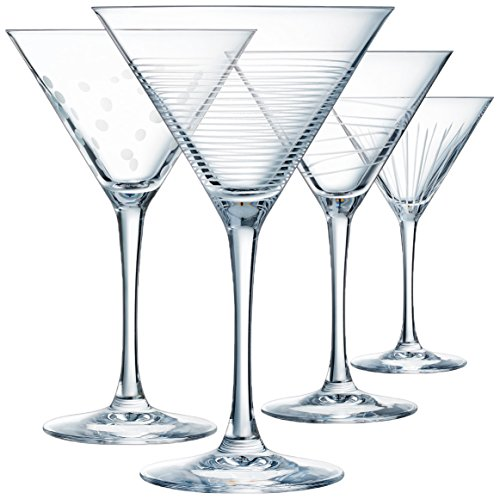 Eclat Illumination Set de 4 Copas Cocktail de 300 ml, Cristal