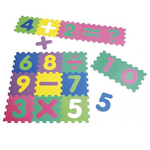 Playshoes EVA Puzzlematten 16 Stück mit 36 Teilen Spielteppich Spielmatten
