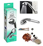 GoChrome Filter Showerhead - Handheld - Water Saving - 3 Stage Filtration - Chrome Finish - Ionic Mineral Balls - Spa Like Shower Experience - 3 Spray Settings - Standard Fitting